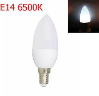 Світлодіодна лампа 4Вт E14 свічка C37 6500K LM792, фото 1