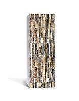 Декор 3Д наклейка на холодильник Цветной песчаник (пленка ПВХ фотопечать) 65*200см Текстуры Коричневый