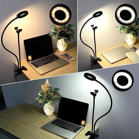 Кільцева лампа (селфи / LED) 9 См c прищіпкою і утримувачем для телефону