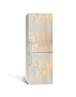 Декор 3Д наклейка на холодильник Золоті відбитки Золото (плівка ПВХ фотодрук) 65*200см Текстура Бежевий