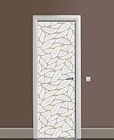 Виниловые наклейки на дверь Ракушки Перламутр ПВХ пленка с ламинацией 65*200см Текстуры Серый