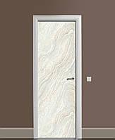 Декоративная наклейка на двери Фактурный серый мрамор ПВХ пленка с ламинацией 65*200см Текстуры Серый