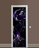 Декор двері Наклейка вінілова Космічні сфери ПВХ плівка з ламінуванням 65*200см Абстракція Синій