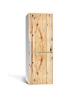 Наклейка на холодильник Фактурне дерево Вільха (плівка ПВХ з ламінуванням) 65*200см Текстура Бежевий