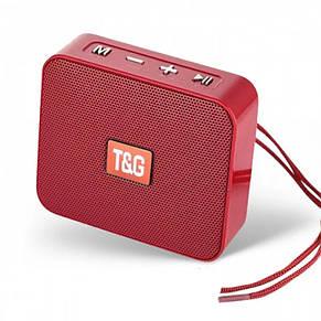 Портативная bluetooth колонка T&G TG-166, Красный, фото 2