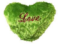 Подушка сердце травка салатовая