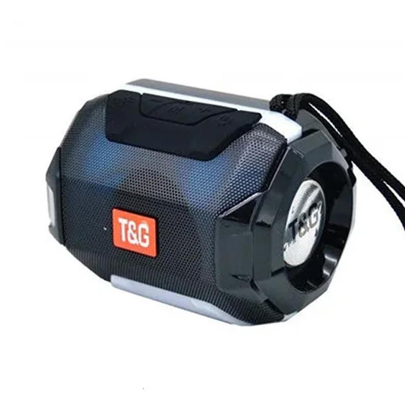 Портативная bluetooth колонка T&G TG-162, с подсветкой, Черный