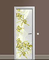 Вінілові наклейки на двері Золоті оливки ПВХ плівка з ламінуванням 65*200см Їжа Сірий