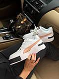 Жіночі кросівки Puma Cali white/gold, жіночі кросівки Пума Калі (Репліка ААА), фото 5