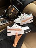 Жіночі кросівки Puma Cali white/gold, жіночі кросівки Пума Калі (Репліка ААА), фото 4