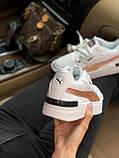 Жіночі кросівки Puma Cali white/gold, жіночі кросівки Пума Калі (Репліка ААА), фото 3