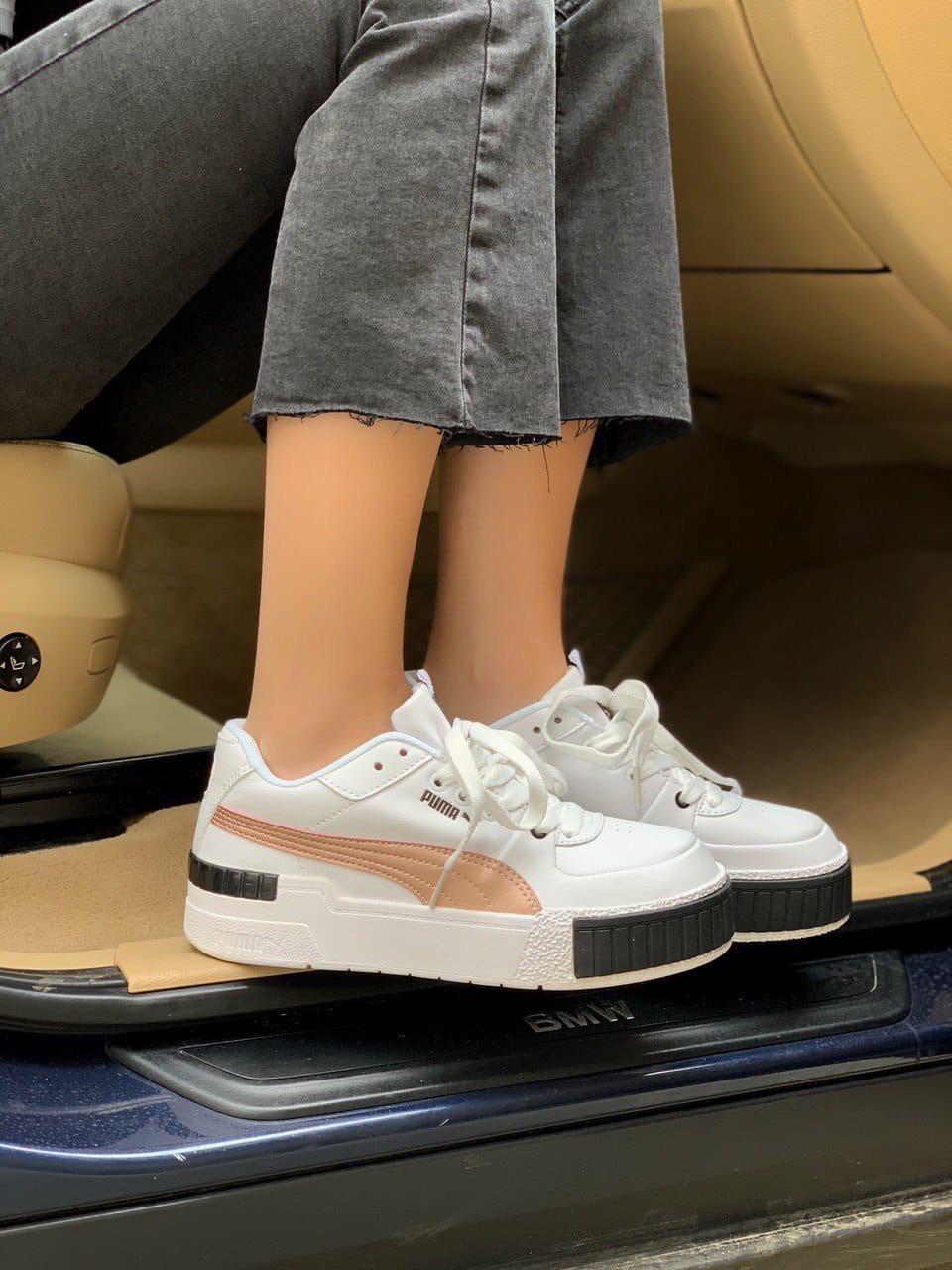 Жіночі кросівки Puma Cali white/gold, жіночі кросівки Пума Калі (Репліка ААА)