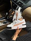 Жіночі кросівки Puma Cali white/gold, жіночі кросівки Пума Калі (Репліка ААА), фото 7