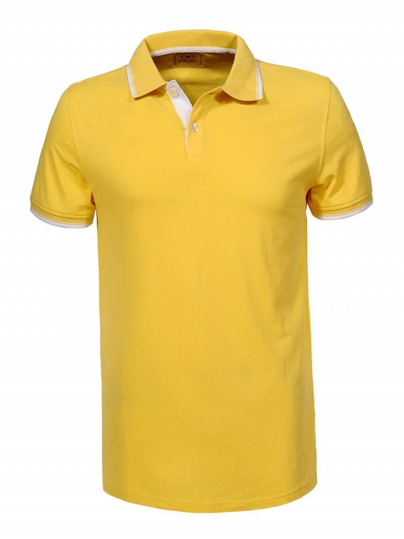 Мужская желтая футболка поло