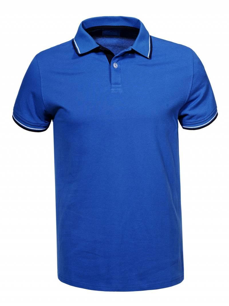Мужская синяя футболка поло