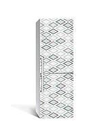 Декор 3Д наклейка на холодильник Ромбы Геометрия (пленка ПВХ с ламинацией) 65*200см Абстракция Серый