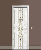 Декоративна наклейка на двері Візерунки старої Англії ПВХ плівка з ламінуванням 65*200см Геометрія Сірий