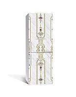 Декор 3Д наклейка на холодильник Візерунки старої Англії (плівка ПВХ фотодрук) 65*200см Геометрія Сірий