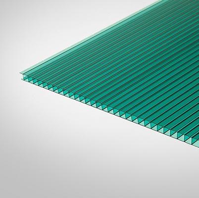 Сотовый поликарбонат Колибри 6 мм зеленый 2,1х6 м
