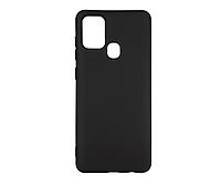 "Чехол силікон ""Silicone Case Original"" Samsung A217, A21s 2020 чорний закритий низ (укр.пост)"