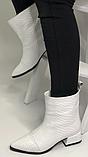 Белые сапожки женские кожаные от производителя модель РИ333-4, фото 6