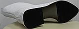 Белые сапожки женские кожаные от производителя модель РИ333-4, фото 5