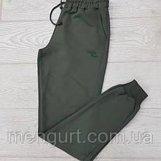 Спортивные штаны мужские с манжетами однотонные, фото 2