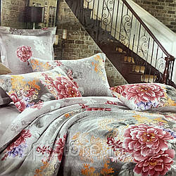 """""""пион"""" постельное белье Elway Premium евро размер 200*220 см, ткань сатин 100% хлопок"""