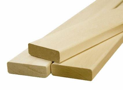 Лежак для сауны (брус-полок) липа, фото 2