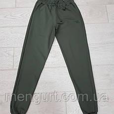 Спортивные штаны мужские с манжетами однотонные, фото 3