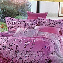 """""""розовое"""" постельное белье Elway Premium евро размер 200*220 см, ткань сатин 100% хлопок"""