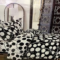 """""""кружочки"""" постельное белье Elway Premium евро размер 200*220 см, ткань сатин 100% хлопок"""