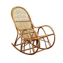 Кресло-качалка ЧФЛИ 4 Лоза 60х65х120 см Светло-коричневый (k00017)