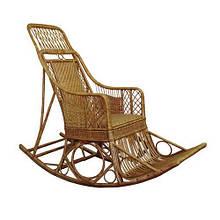Кресло-качалка ЧФЛИ Черниговчанка Лоза 60х180х135 см Светло-коричневый (k00005)