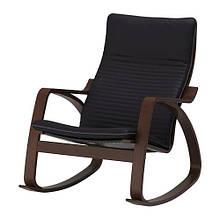 Кресло-качалка IKEA POÄNG Черный с коричневым (092.415.52)