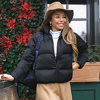 Женская черная демисезонная курточка, фото 1
