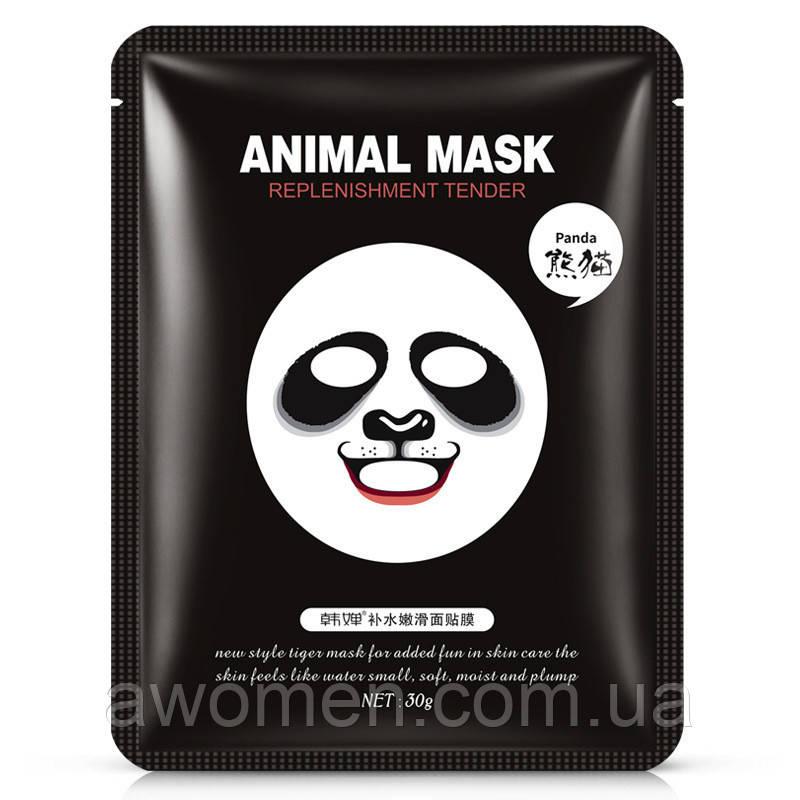 Смягчающая тканевая маска Rorec для лица с принтом Панда Animal Panda Supple Mask