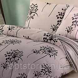 """""""одуванчики"""" постельное белье Elway Premium евро размер 200*220 см, ткань сатин 100% хлопок"""