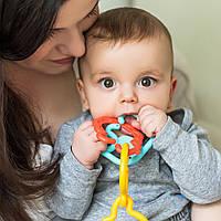 Детская погремушка-зубогрызка Ланцюжок Тримай та грайся BabyOno 498