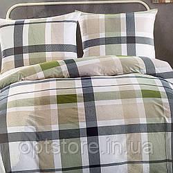 """""""клетка"""" постельное белье Elway Premium евро размер 200*220 см, ткань сатин 100% хлопок"""