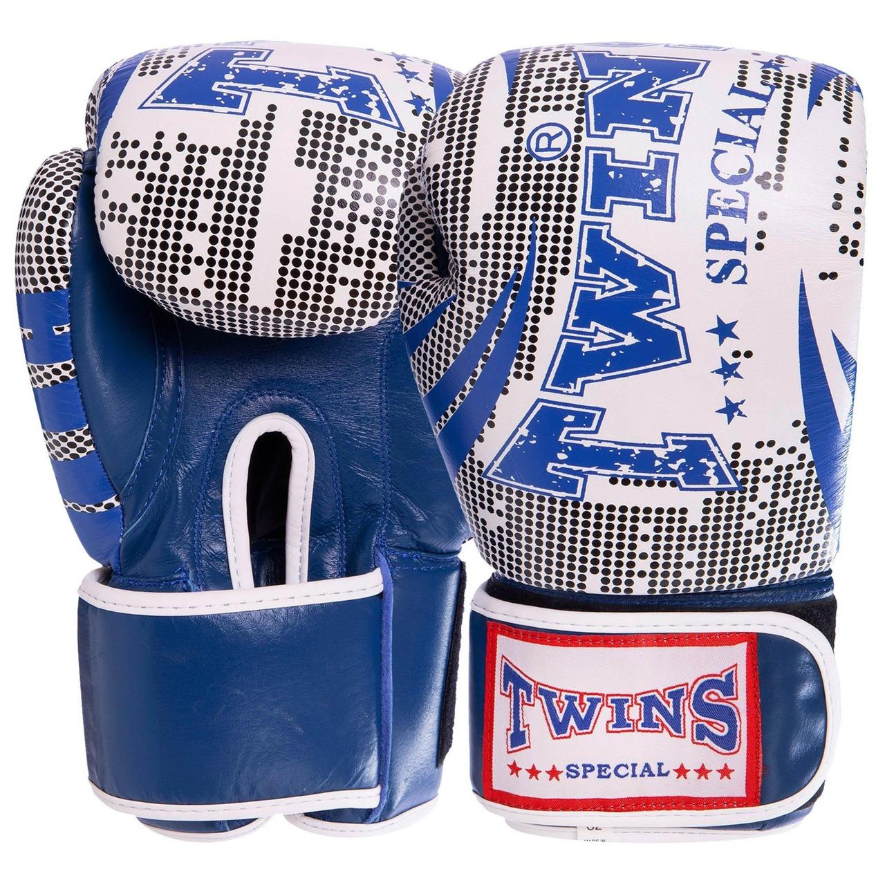 Перчатки боксерские кожаные на липучке TWN VL-2066 (р-р 10-12oz, цвета в ассортименте)