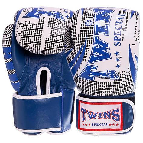 Перчатки боксерские кожаные на липучке TWN VL-2066 (р-р 10-12oz, цвета в ассортименте), фото 2