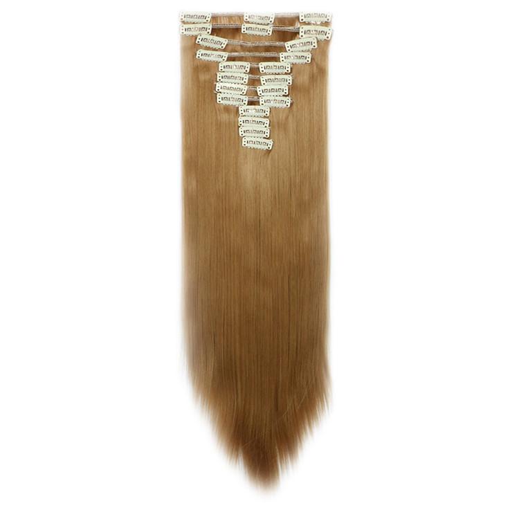 Искусственные волосы на заколках. Цвет #27H Светло-русый. Набор прядей, фото 1