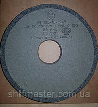 Круг шлифовальный эльборовый на керамической связке 1А1 125х15х32х5 CBN30 250/200 СМ1 K V 100 35 m/c