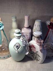 Бутылки декор декупаж