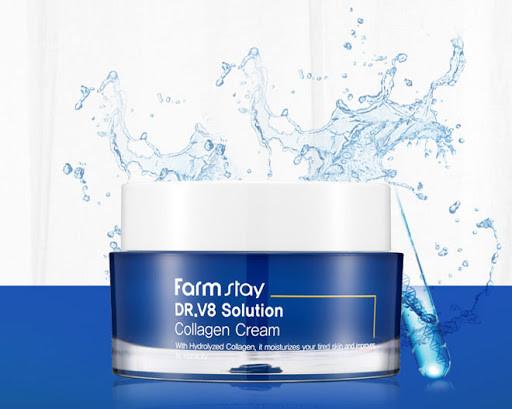 Крем для обличчя з колагеном FarmStay DR.V8 Solution Collagen Cream 50 г