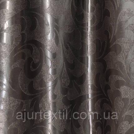 "Штора Блэкаут ""Превосходство"" шоколад светонепроницаемые  шторы, фото 2"