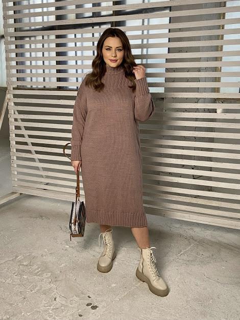 Красивое БАТАЛЬНОЕ вязаное платье с 48 по 66 размер