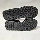 41,44,46 р. Мужские кроссовки кожа замша плотная сетка Пума Черные Маломерные, фото 8