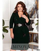 Деловое платье- пальто с двумя рядами пуговиц с 52 по 58 размер, фото 2